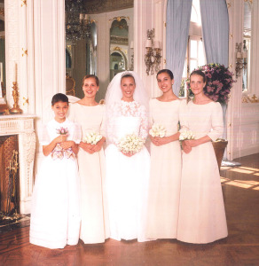 Beatie's wedding, with her sisters as bridesmaids